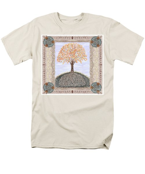 Autumn Tree Of Life Men's T-Shirt  (Regular Fit) by Lise Winne