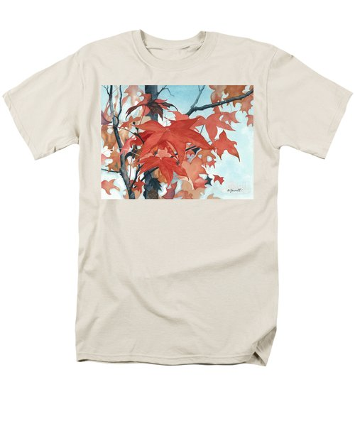 Men's T-Shirt  (Regular Fit) featuring the painting Autumn's Artistry by Barbara Jewell
