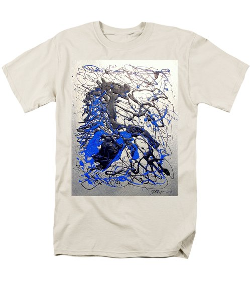 Azul Diablo Men's T-Shirt  (Regular Fit) by J R Seymour