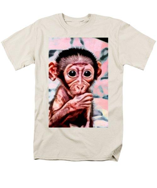 Baby Monkey Realistic Men's T-Shirt  (Regular Fit) by Catherine Lott