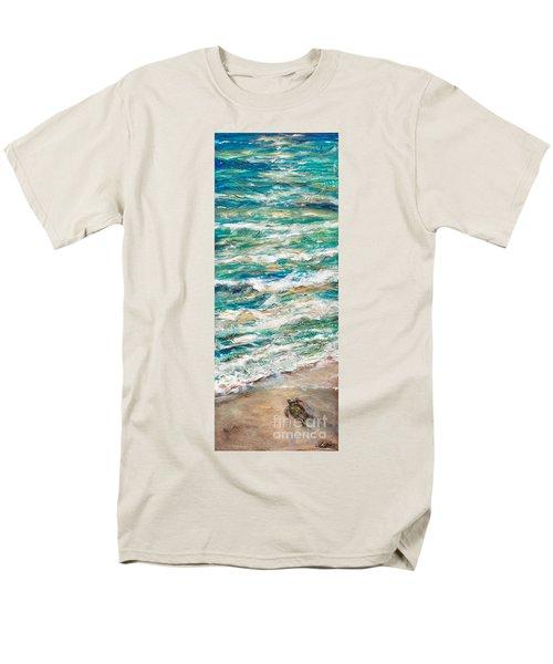 Baby Sea Turtle II Men's T-Shirt  (Regular Fit) by Linda Olsen