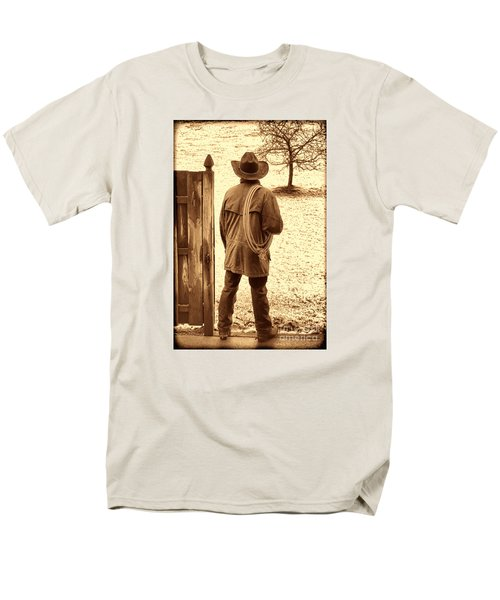 Back To Work Men's T-Shirt  (Regular Fit) by American West Legend By Olivier Le Queinec