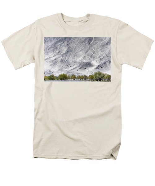 Backdrop Of Sand, Chumathang, 2006 Men's T-Shirt  (Regular Fit) by Hitendra SINKAR