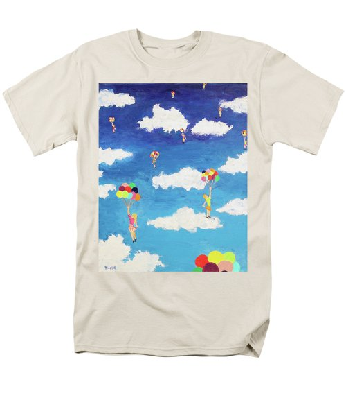 Men's T-Shirt  (Regular Fit) featuring the painting Balloon Girls by Thomas Blood