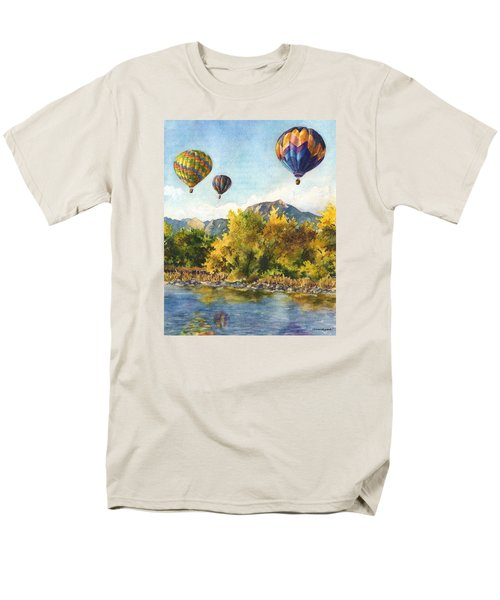 Men's T-Shirt  (Regular Fit) featuring the painting Balloons At Twin Lakes by Anne Gifford