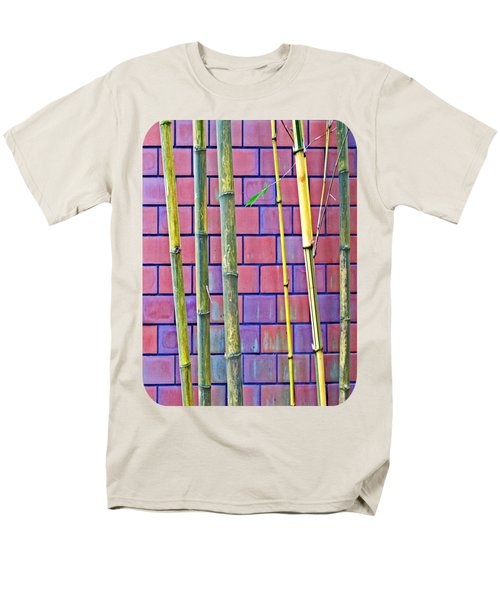 Men's T-Shirt  (Regular Fit) featuring the photograph Bamboo And Brick by Ethna Gillespie