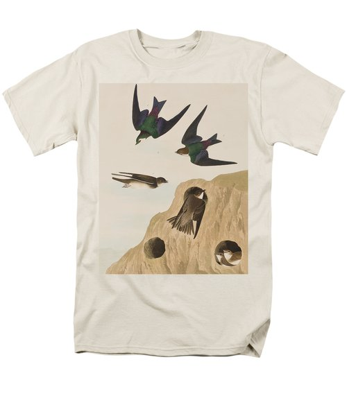 Bank Swallows Men's T-Shirt  (Regular Fit) by John James Audubon