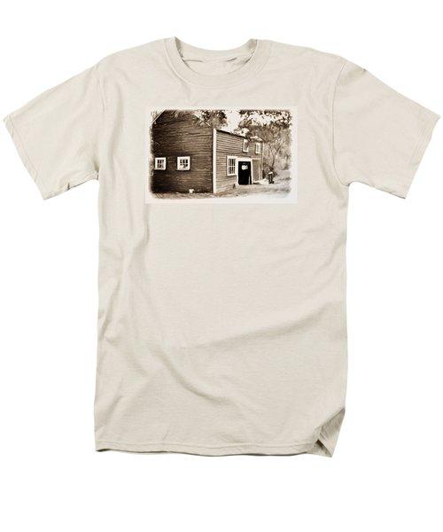 Barn In The Woods Men's T-Shirt  (Regular Fit) by Rena Trepanier