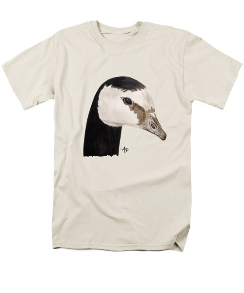Barnacle Goose Portrait Men's T-Shirt  (Regular Fit) by Angeles M Pomata