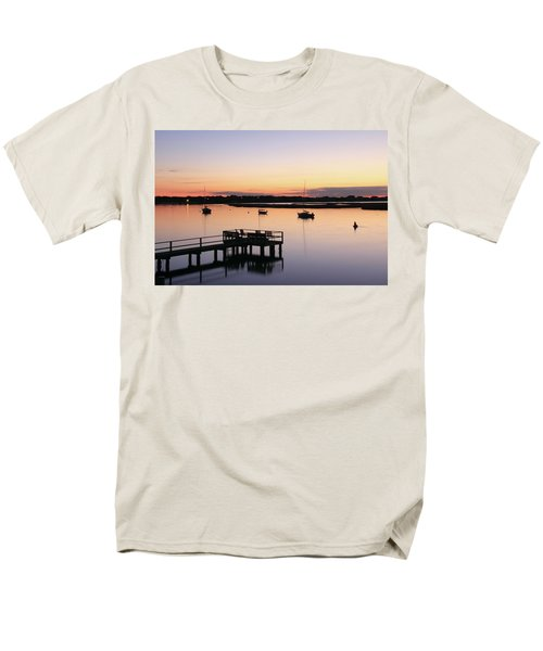 Men's T-Shirt  (Regular Fit) featuring the photograph Bass River Before Sunrise by Roupen  Baker