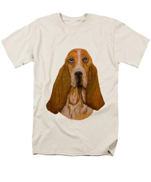 Basset Hound Portrait Men's T-Shirt  (Regular Fit) by John Stuart Webbstock