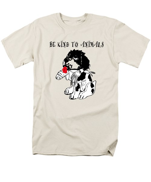 Be Kind To Animals Men's T-Shirt  (Regular Fit) by EricaMaxine  Price