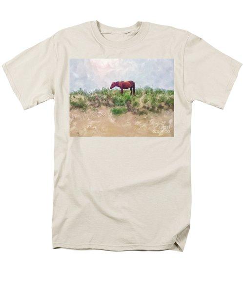 Men's T-Shirt  (Regular Fit) featuring the digital art Beach Boy by Lois Bryan