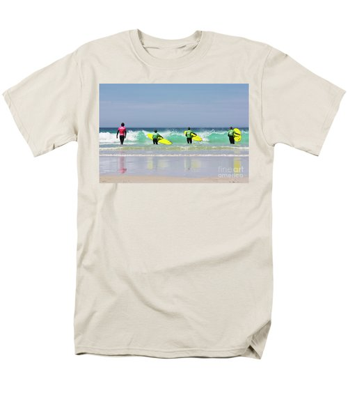 Men's T-Shirt  (Regular Fit) featuring the photograph Beach Boys Go Surfing by Terri Waters
