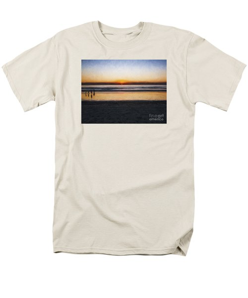 Beach Family  ... Men's T-Shirt  (Regular Fit) by Chuck Caramella
