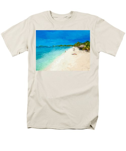 Beach Holiday  Men's T-Shirt  (Regular Fit) by Anthony Fishburne