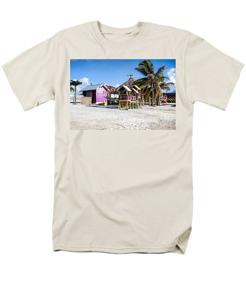 Men's T-Shirt  (Regular Fit) featuring the photograph Beach Huts by Lawrence Burry