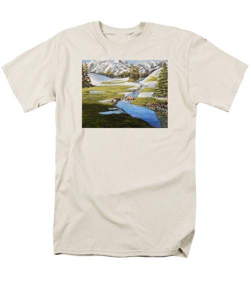 Bear Crossing Men's T-Shirt  (Regular Fit) by Ruanna Sion Shadd a'Dann'l Yoder