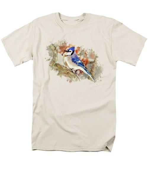 Beautiful Blue Jay - Watercolor Art Men's T-Shirt  (Regular Fit) by Christina Rollo
