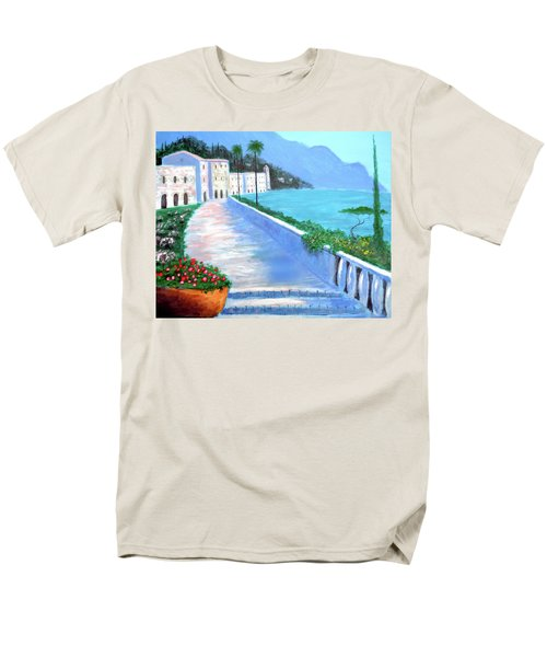 Men's T-Shirt  (Regular Fit) featuring the painting Beauty Of The Riviera by Larry Cirigliano