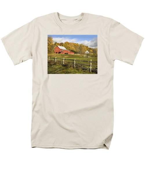 Men's T-Shirt  (Regular Fit) featuring the photograph Bee Hive Farm, West Windsor, Vt by Betty Denise