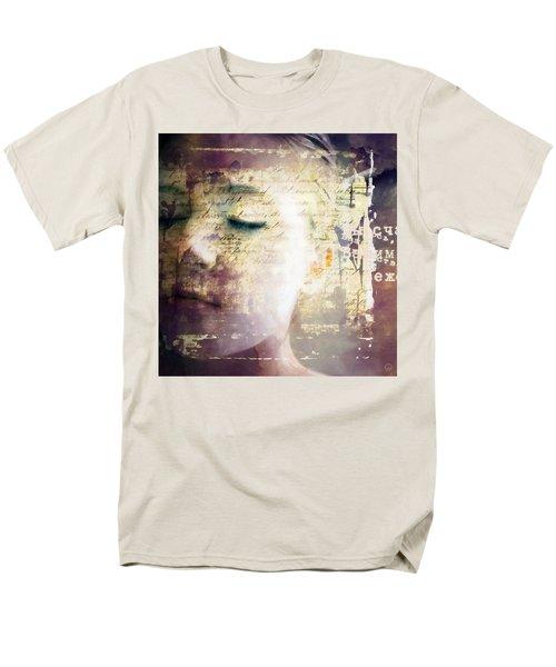 Men's T-Shirt  (Regular Fit) featuring the digital art Behind The Words by Gun Legler