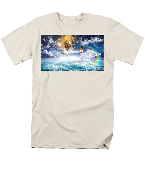 Men's T-Shirt  (Regular Fit) featuring the digital art Behold, He Is Coming  by Dolores Develde