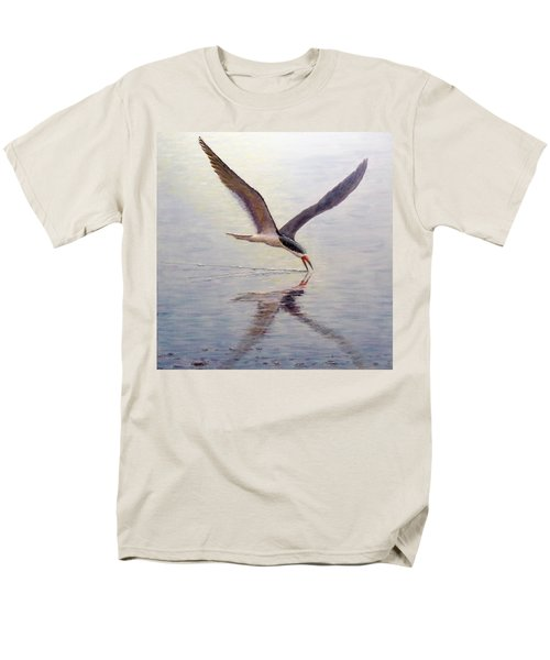 Men's T-Shirt  (Regular Fit) featuring the painting Black Skimmer by Joe Bergholm