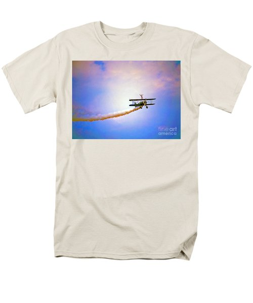 Bi-plane And Wing Walker Men's T-Shirt  (Regular Fit) by Tom Jelen