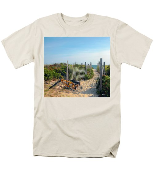 Men's T-Shirt  (Regular Fit) featuring the photograph Bicycle Rest by Madeline Ellis