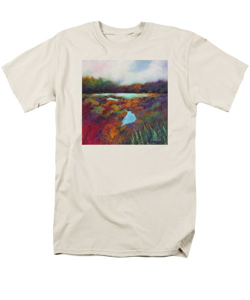 Men's T-Shirt  (Regular Fit) featuring the painting Big Pond In Fall Mc Cormick Woods by Marti Green