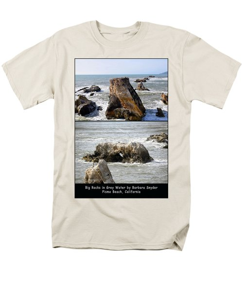 Men's T-Shirt  (Regular Fit) featuring the photograph Big Rocks In Grey Water Duo by Barbara Snyder