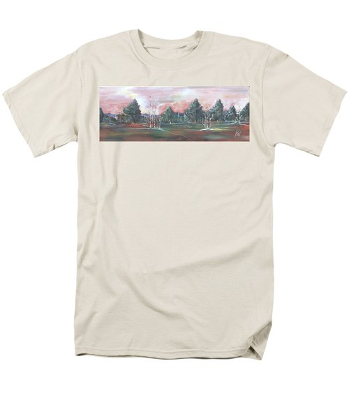 Men's T-Shirt  (Regular Fit) featuring the painting Birch Grove by Pat Purdy