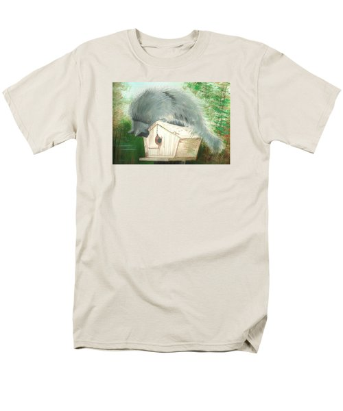Men's T-Shirt  (Regular Fit) featuring the painting Birdie In The Hole by Denise Fulmer