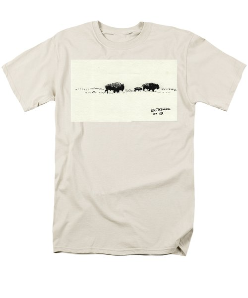 Bison Family Men's T-Shirt  (Regular Fit) by Eric Tressler