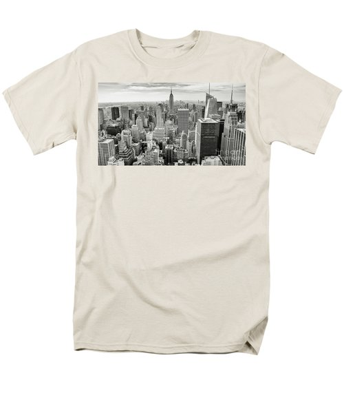 Men's T-Shirt  (Regular Fit) featuring the photograph Black And White Skyline by MGL Meiklejohn Graphics Licensing