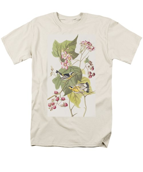 Black And Yellow Warblers Men's T-Shirt  (Regular Fit) by John James Audubon
