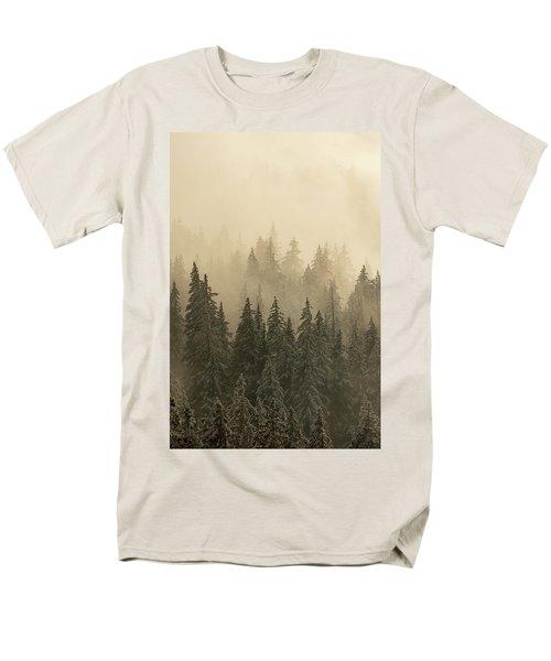 Blanket Of Back-lit Fog Men's T-Shirt  (Regular Fit) by Dustin LeFevre