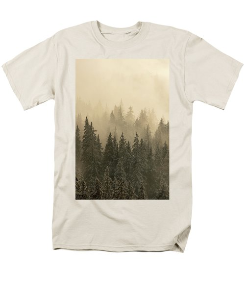 Men's T-Shirt  (Regular Fit) featuring the photograph Blanket Of Back-lit Fog by Dustin LeFevre