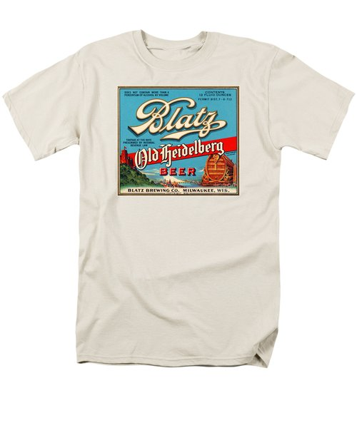 Blatz Old Heidelberg Vintage Beer Label Restored Men's T-Shirt  (Regular Fit) by Carsten Reisinger