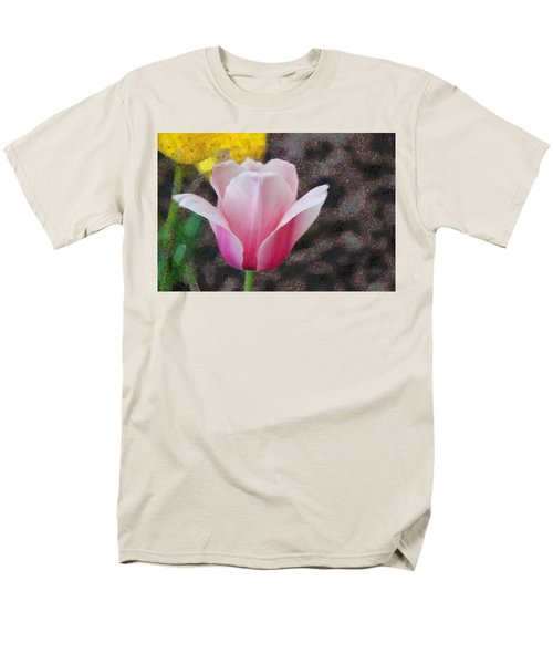 Men's T-Shirt  (Regular Fit) featuring the mixed media Bloomin' by Trish Tritz