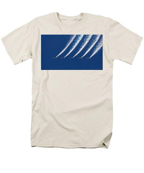 Blue Angels Formation Men's T-Shirt  (Regular Fit) by John A Rodriguez