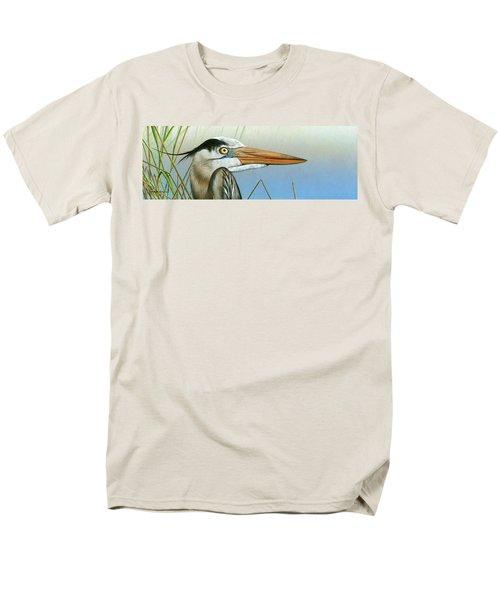 Blue Heron  Men's T-Shirt  (Regular Fit) by Mike Brown