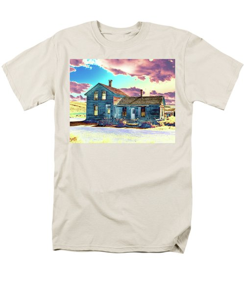Men's T-Shirt  (Regular Fit) featuring the photograph Blue House by Jim and Emily Bush