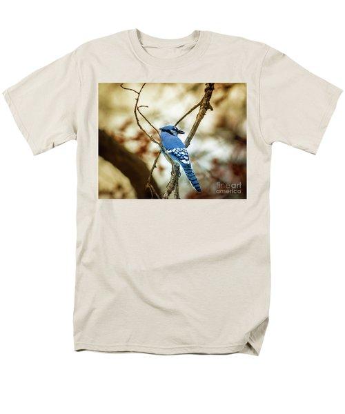 Blue Jay Men's T-Shirt  (Regular Fit) by Robert Frederick