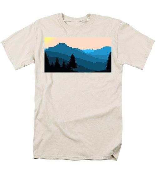 Blue Landscape Men's T-Shirt  (Regular Fit) by Thomas M Pikolin
