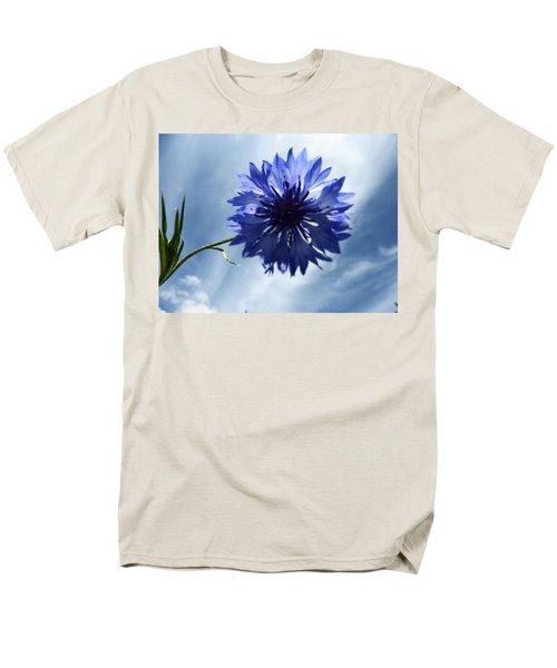 Blue Sky Blue Flower Men's T-Shirt  (Regular Fit) by Tina M Wenger