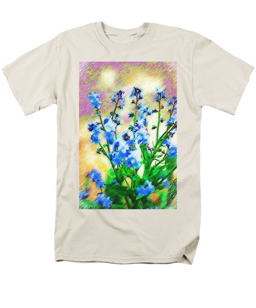 Men's T-Shirt  (Regular Fit) featuring the photograph Blue Wildflowers by Donna Bentley