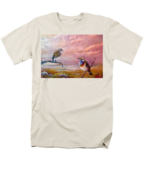 Bluethroat On The Tundra #2 Men's T-Shirt  (Regular Fit) by Patricia Schneider-Mitchell