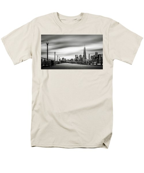 Men's T-Shirt  (Regular Fit) featuring the photograph Boardwalk Into The City by Eduard Moldoveanu
